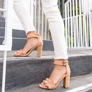 Ankle Strap Sandals Coral